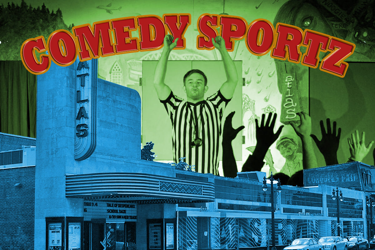 atlas theatre seattle improv comedy sportz show