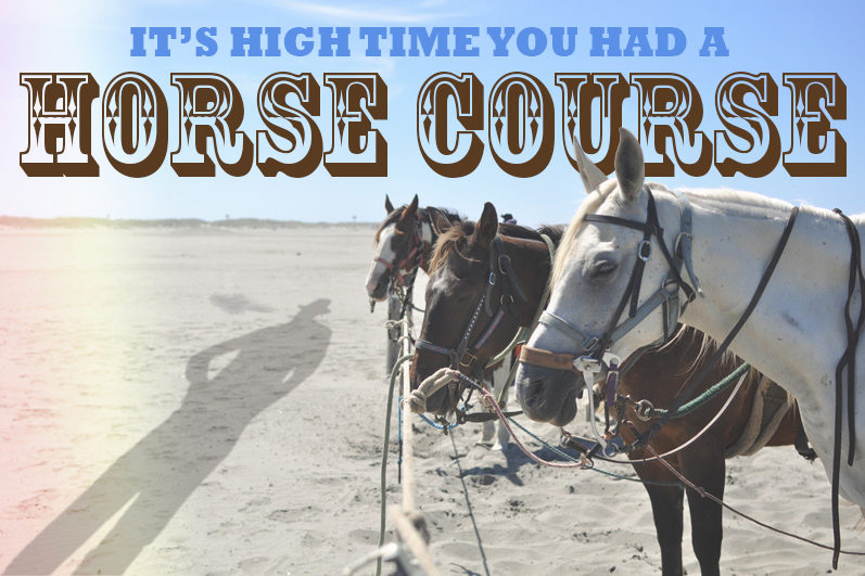 horse riding ocean shores have a heart pot shop