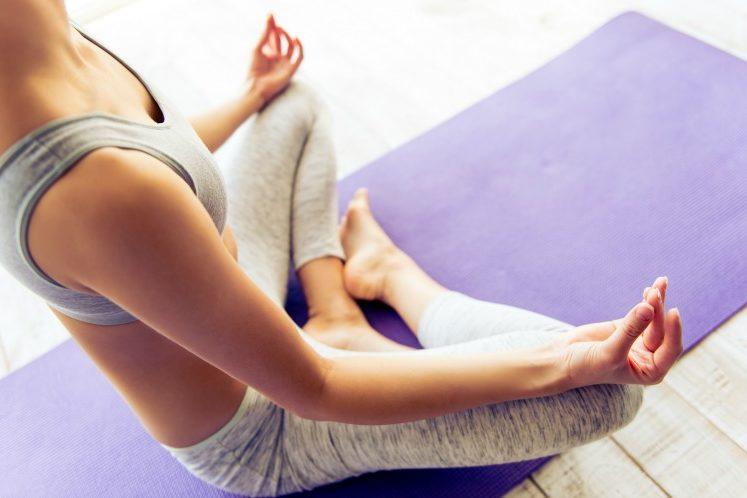 yoga while high