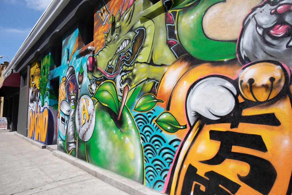 downtown oakland cannabis dispensary mural