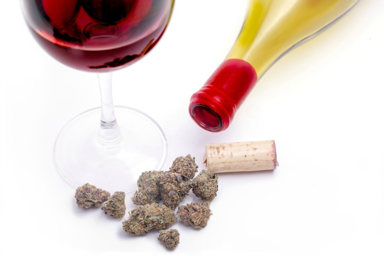 alcohol and cannabis wine and bud