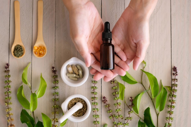 hemp cbd vs cannabis cbd plants with capsules and oil