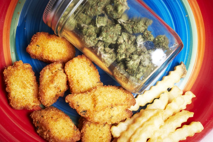 cannabis party nuggets and bud