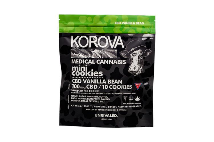 Korova CBD Vanilla Bean Mini Cookies