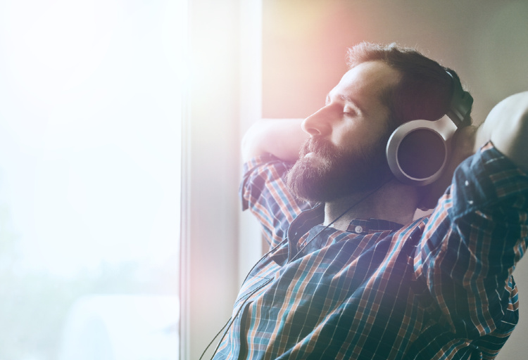 what to listen to when high man listening on headphones