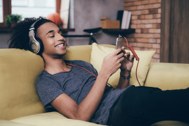 what to listen to when high on phone