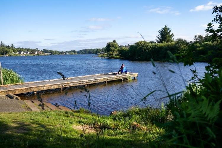 fishing in ocean shores Duck Lake
